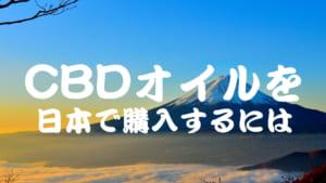 CBDオイルを日本で購入する方法とは
