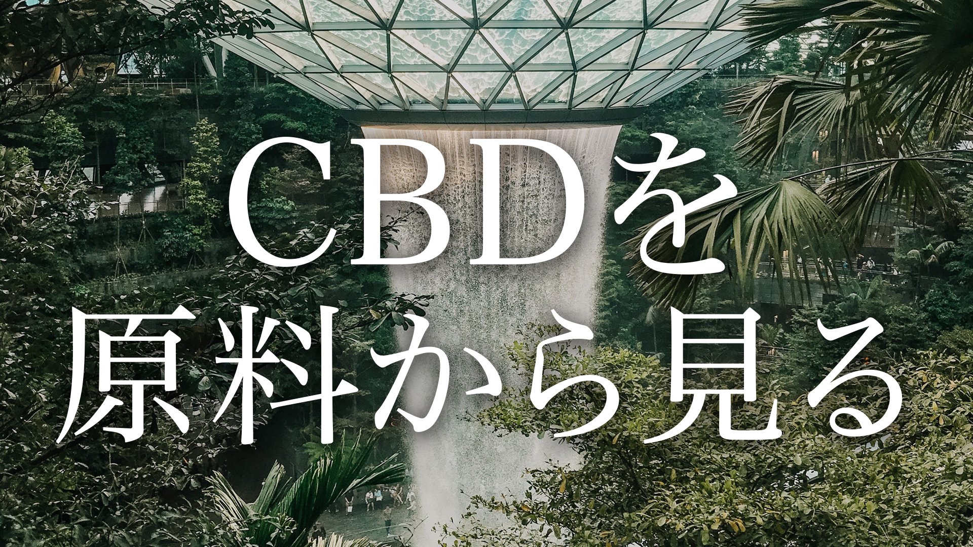 CBDをヘンプ・大麻の原料から見る