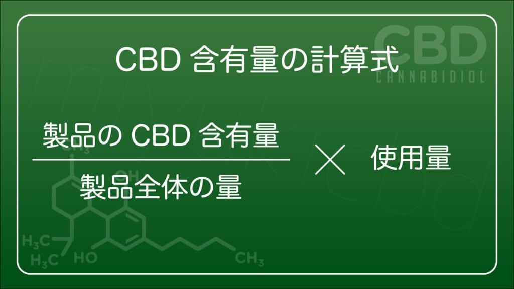 自分の摂取するCBD製品のCBD含有量の計算式